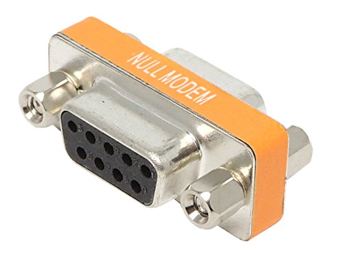 DB9メス - DB9メス ヌルモデム(リバース クロス ロールオーバー)小型コネクタ (NULL MODEM)