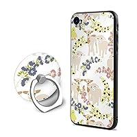 彩語り IPhone 8 ケース IPhone 7 ケース IPhone 7 カバー スマホケース 花 羊 アヒル PC 金属指輪に付き 360°回転ブラケット すり傷防止 指紋防止 防塵 ワイヤレス充電対応 全面保護 耐衝撃