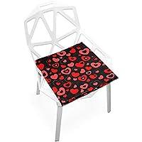 座布団 低反発 ハート こころ 赤 ビロード 椅子用 オフィス 車 洗える 40x40 かわいい おしゃれ ファスナー ふわふわ fohoo 学校