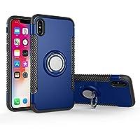 Newzerol For iPhone X ケース 【耐衝撃・車載ホルダー対応・PC+TPU・スタンド機能・携帯カバー・】iPhone X 用 保護ケース (ブルー)