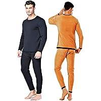 [MCBM] 【漁師の底力 完全防寒】 分厚く もふもふ 内側から抜群の保温力 もちはだプレミアム 3Dホットアップテック 綿 高率 メンズ インナー シャツ パンツ 上下セット タイツ 長袖 肌着 ズボン下 ももひき