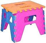 イマージ 折りたたみステップ オレンジ×ピンク×ブルー 21cmの高さをサポート