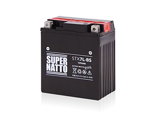 SUPER NATTO / STX7L-BS (YTX7L-BS GTX7L-BS FTX7L-BS KTX7L-BS互換) 密閉型MF ( ジャイロキャノピー V-TWIN マグナ ホーネット 250 セロー225 リード110 Dio110 グラストラッカー (NJ4BA) Dトラッカー/X) 7L-BS