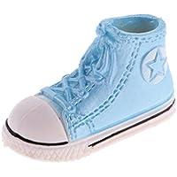 Dovewill ドール用 ファッション 3.7cm  プラスチック  スニーカー  スポーツシューズ 靴   1/6スケール ブライスBJD人形適用 全9色 - 青
