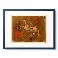 アウグスト・マッケ August Macke 「St George and the dragon」 額装アート作品