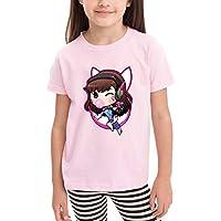 AIDEAR D.Va Overwatch Fan Children's T-Shirt Fashion Short Sleeve Cotton Kids Tops Boys Girl T Shirt