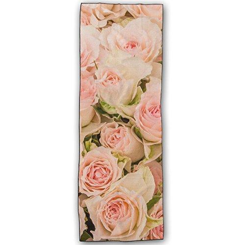 [해외]Dera Princess 에코 요가 타올 요가 라구 흡수 속건 발군 페일 핑크 장미 텍스처 디자인 183cm * 61cm 요가 수건 매트 미끄럼 방지 기능/Dera Princess Eco-Yoga Towel Yoga Rag Water-absorbent Quick-drying Paper Pink Roses Texture Design 183 ...