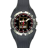 Aqua Force US Army Logo Analog Quartz Watch, Black