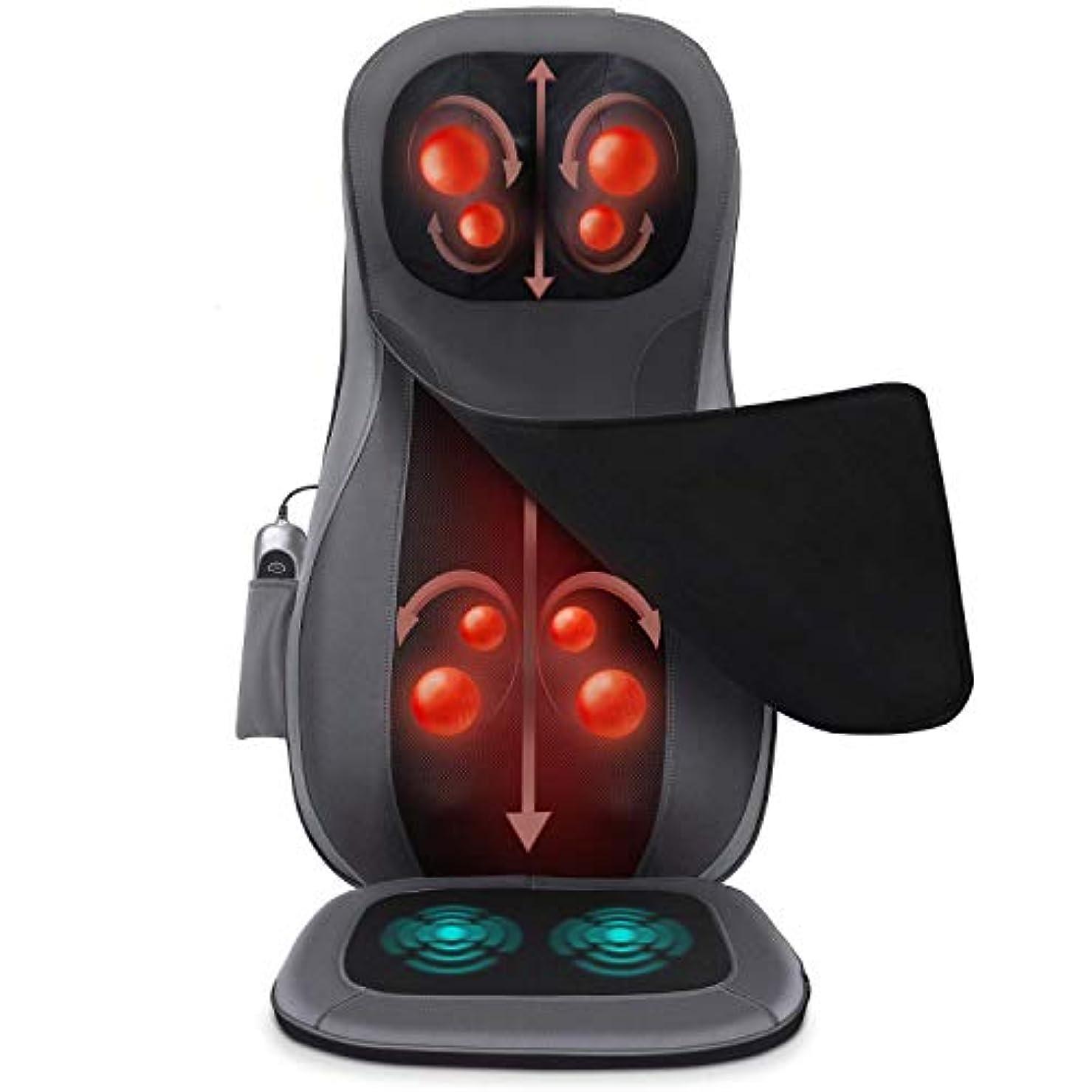 シエスタ滝人道的オフィスでのピンポイントフルボディのための熱ローリング混練振動、ホーム、車で指圧マッサージチェアシートクッション、バックとネックマッサージャー、