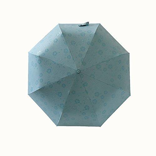 自動開閉傘 濡れると花柄が浮き出る ワンタッチ カラフル 折りたたみ傘 軽量 頑丈な8本骨 晴雨兼用 日傘 耐風撥水 傘レディース シンプル 携帯しやすい ブルー