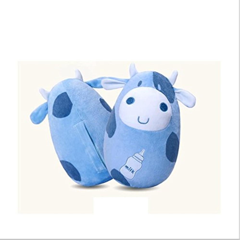 wanrane Cute Kids Roly - Poly ToyセーフPiggy Fawn Cartoon Teether Baby Rattleタンブラー知的開発玩具(グリーン)