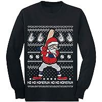 Ho Ho Homerun Santa Baseball Ugly Christmas Toddler/Kids Long Sleeve T-Shirt