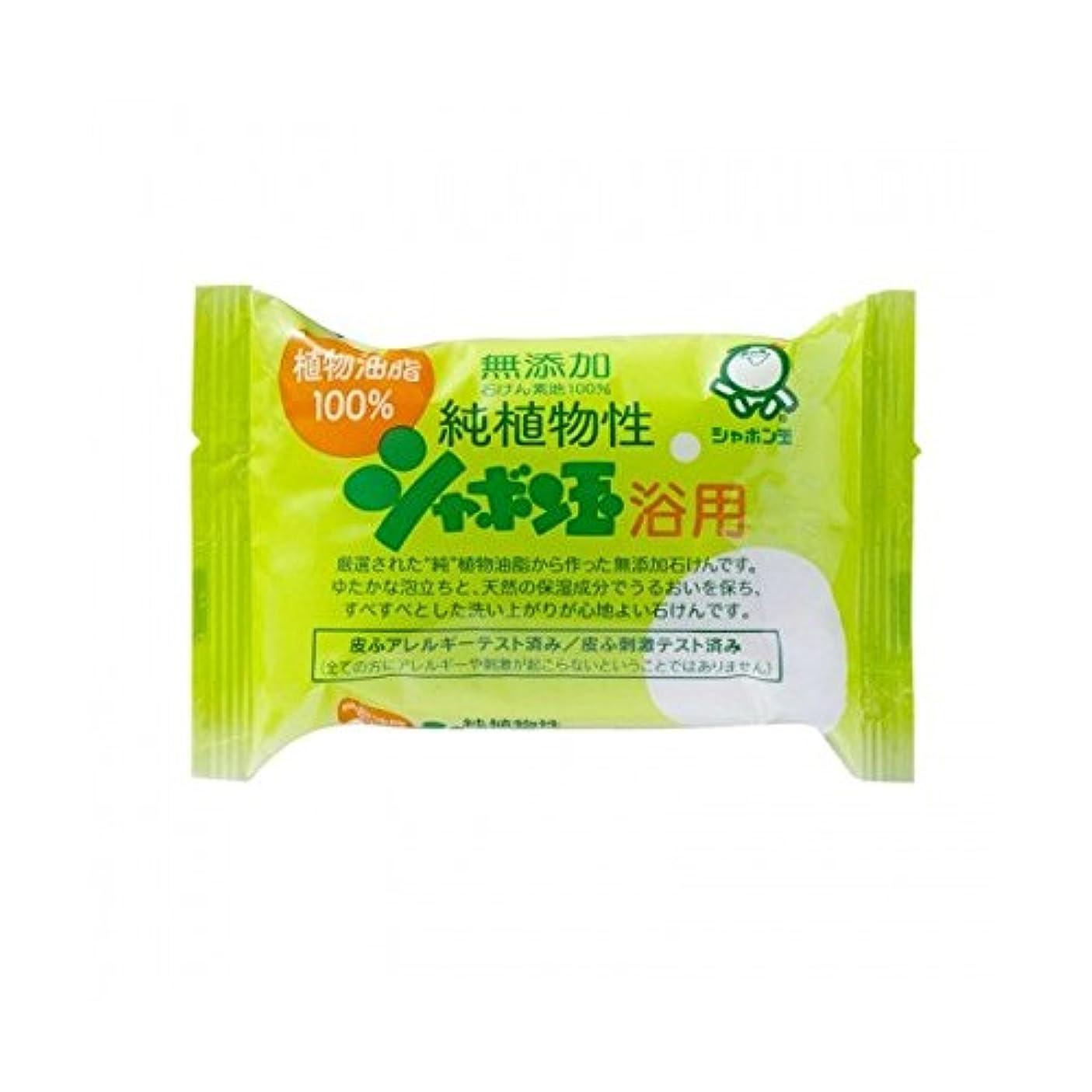 テープ満足発生シャボン玉石けん シャボン玉 純植物性 浴用 100g(無添加石鹸)×120点セット (4901797003013)