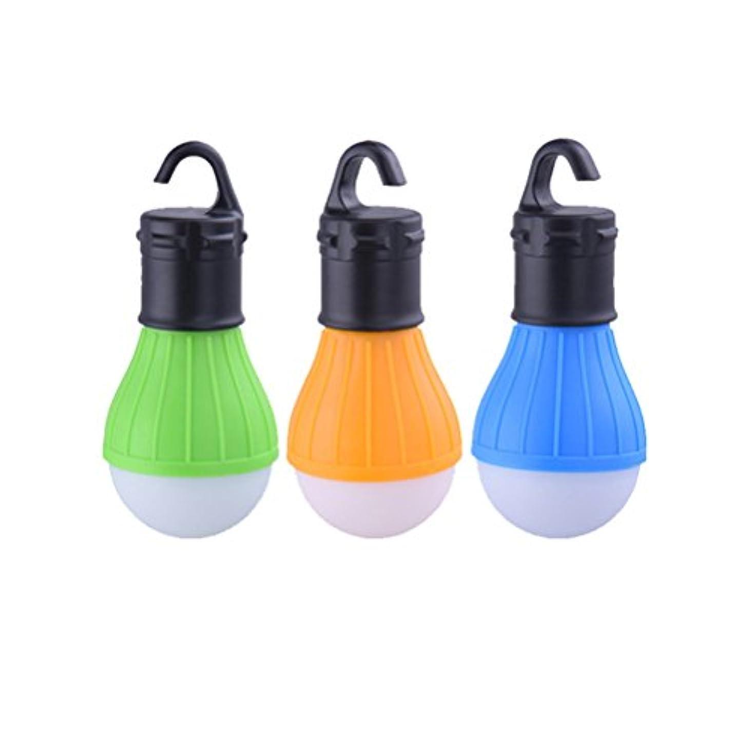 明るい些細ものVORCOOL キャンプライト ラップトップ アウトドア LED電球ポータブルランプ 防水 LEDライト緊急テント キャンプランタン電球 ハイキング 釣り 狩猟 登山活動用 3ピース(オレンジ+ブルー+グリーン)