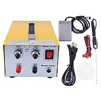 バッテリースポット溶接機、30Aジュエリースポット溶接機フットペダルコントロール家庭用DIYゴールドシルバースポット溶接機(米国のプラグ)