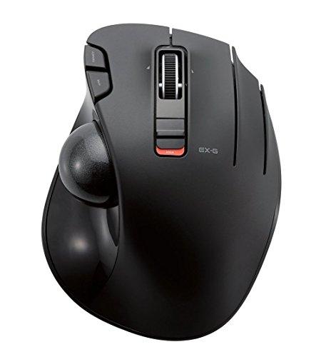 エレコム ワイヤレスマウス トラックボール 6ボタン ブラック...