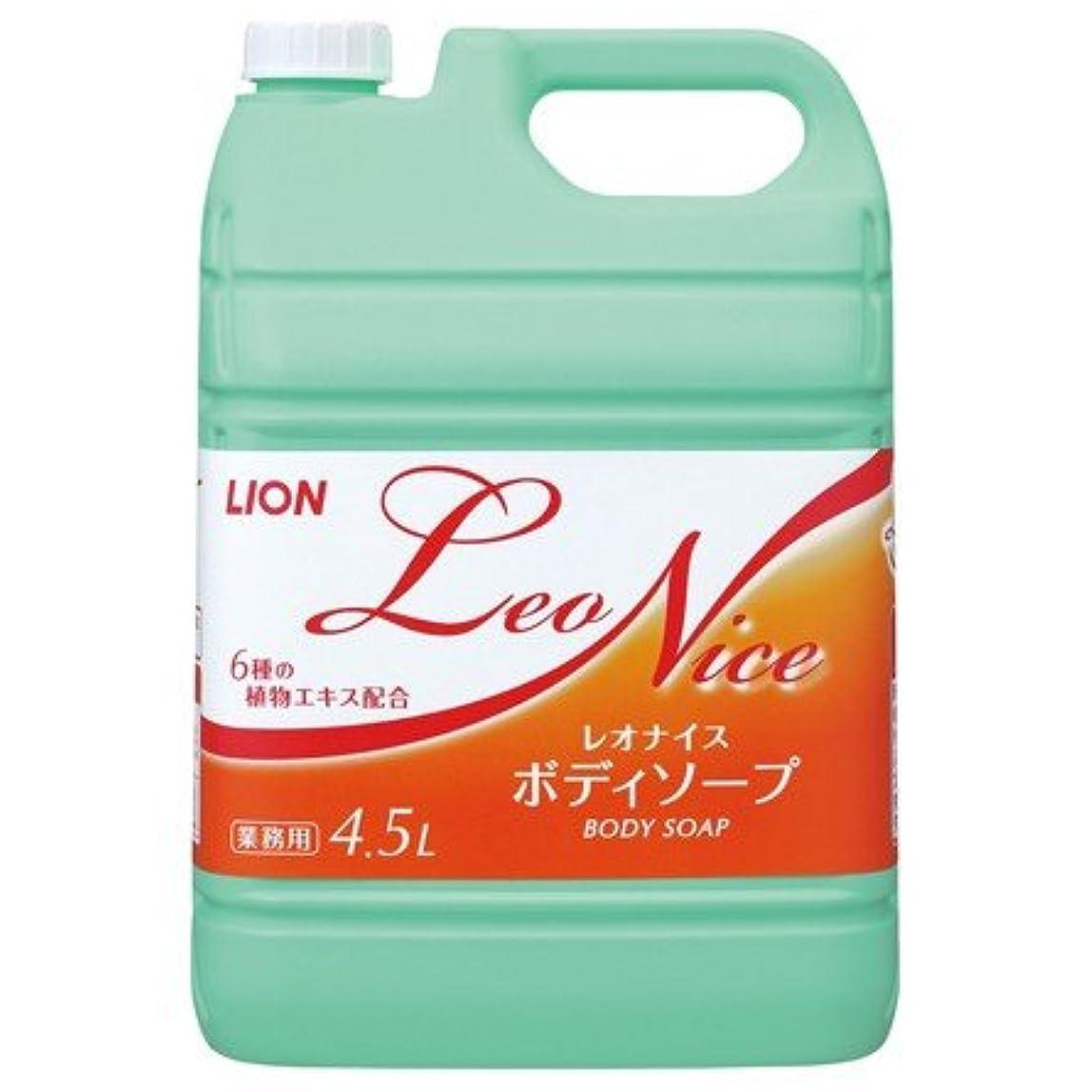 ツール甘味粘り強いライオン レオナイス ボディソープ 4.5L×3本入