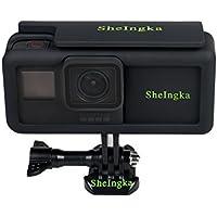 GoPro Hero 6 Hero 5側電源2300MA 拡張バッテリー 保護フレームマウントハウジングケースシェル スポーツカメラ対応アクセサリー Frame