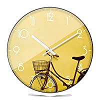 RXL クリエイティブファッションパーソナリティ壁時計ファッション現代時計シンプルなベッドルームリビングルームミュート (Color : White, Size : 30.5cm)