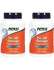 2個セット トリ-3Dオメガ(分子蒸留DHA/EPA) 90粒 [海外直送品]