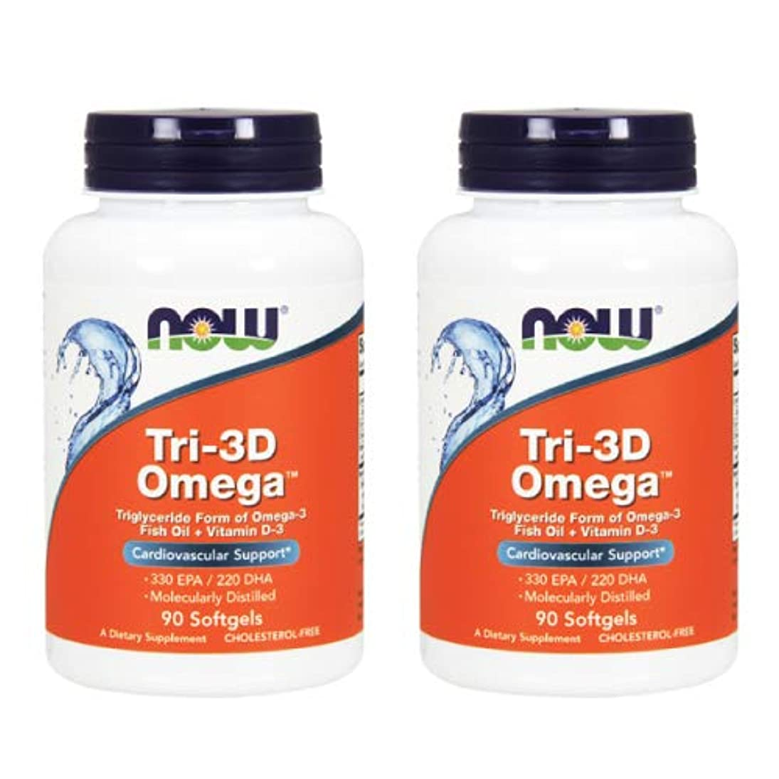 メリーベンチ無臭2個セット トリ-3Dオメガ(分子蒸留DHA/EPA) 90粒 [海外直送品]