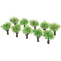 10個入り モデルツリー 樹木 木 鉢植え用 鉄道模型 風景 モデル トレス 情景コレクション ジオラマ 建築模型 電車模型 HOスケール 1:100
