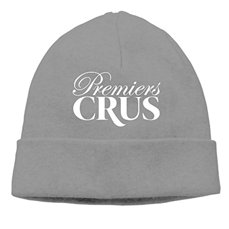 ニット帽 PREMIERS CRUS ニット 帽子 男女兼用 薄手 通気性 6色展開 フリーサイズ One Size グレー