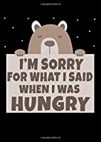 Notebook: Bear Hunger Excuse Funny Gift Shirt 120 Pages, A4 (About 8,5X11 Inches / Letter), Dot Grid