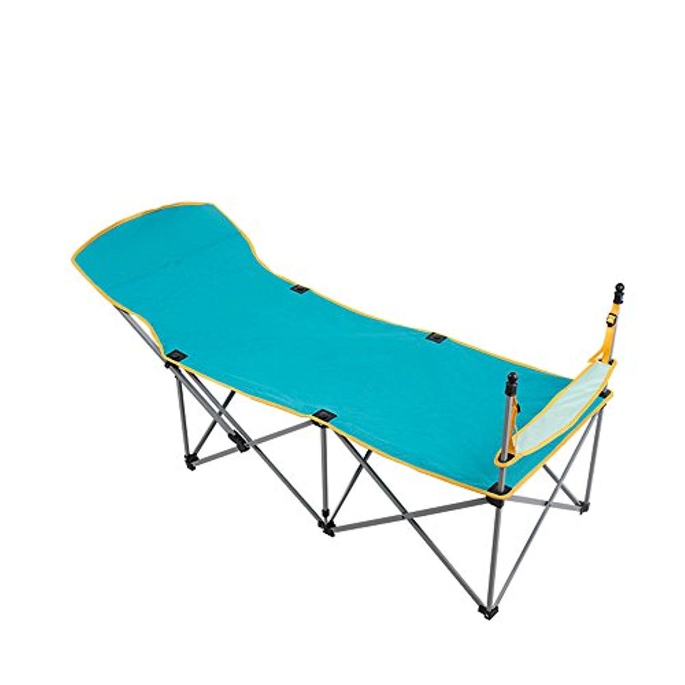 スパイアウトドア顎Zhengアウトドアポータブル折りたたみベッドシングルオフィスNap Bed Lunchベッドスーパーライトシンプルベッド