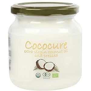 COCOCURE オーガニックJAS認定 エキストラバージン ココナッツオイル コールドプレス製法 C 500ml 1個