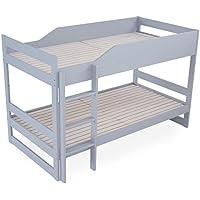 LOWYA (ロウヤ) ベッド 2段ベッド セパレート可能 すのこ パイン材 無垢材 高さ調節可能 シングルベッド キッズベッド 子供 新生活 おしゃれ グレー