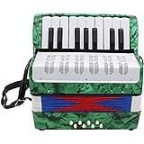 B Blesiya 鍵盤アコーディオン 手風琴 鍵盤楽器 全4色 - グリーン