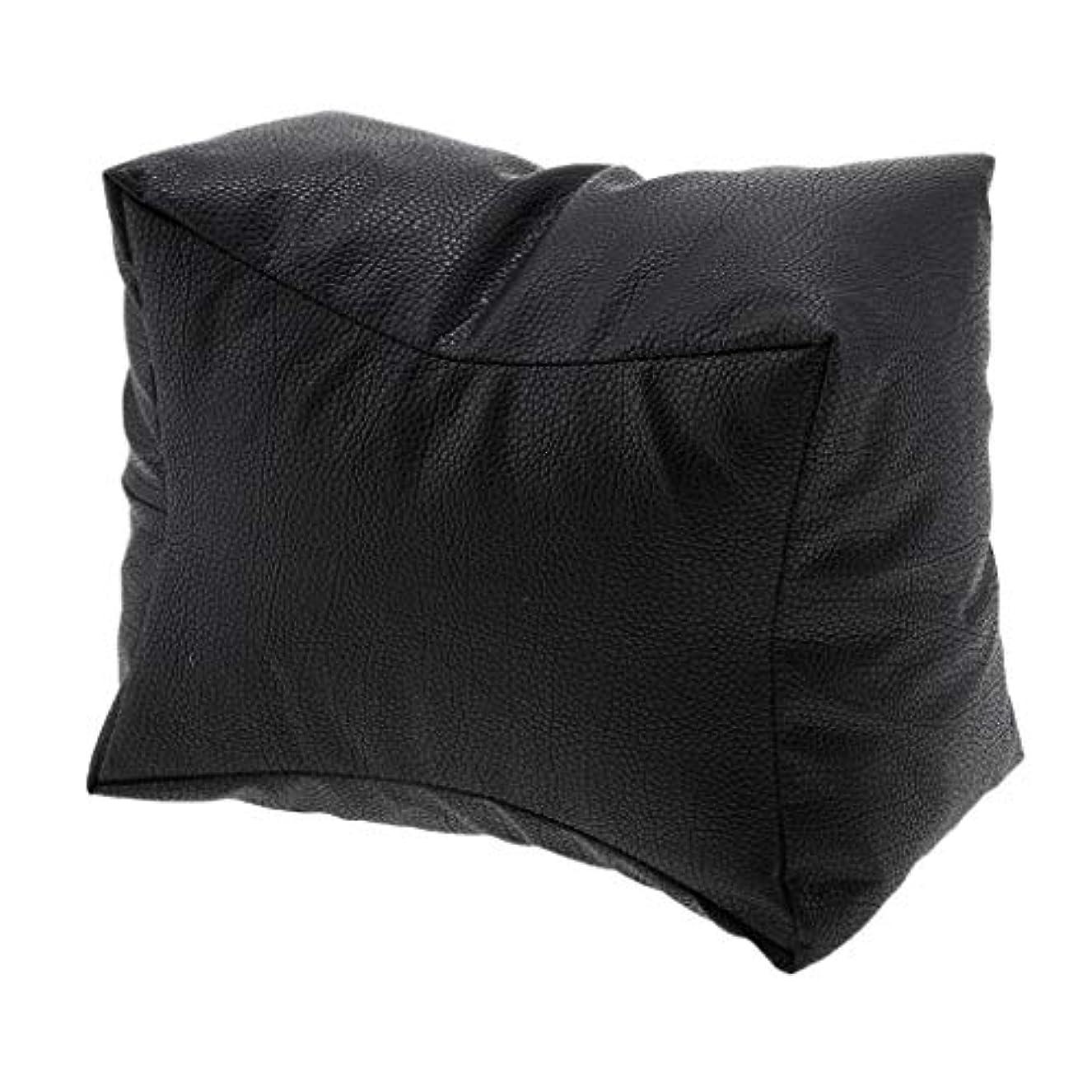 パークプレゼンごちそうネイル アームレスト ジェルネイルまくら ネイルアートピロー アームレスト クッション 枕 ピロー 3カラー - ブラック