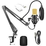 USB Streaming PC Microphone, Professional Studio Broadcasting & Recording Microphone Set, JORAGO Professional BM700 Cardioid