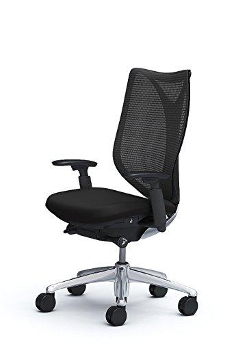 オカムラ デスクチェア オフィスチェア サブリナ スタンダード ハイバック 可動肘  ブラック C853BR-FSY1