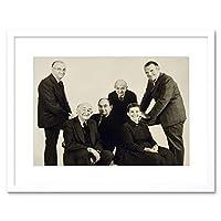 Vintage Portrait Eames Designer Black White Style Framed Wall Art Print ビンテージポートレート設計スタイル壁
