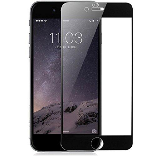 iPhone7 iPhone7 plus iPhone6/6s iPhone6 plus iPhone6s plus ガラスフィルム, AOOCO iPhone ガラスフィルム 【0.26mm】 全面保護 液晶保護 強化ガラスフィルム 曲面デザイン 2.5Dラウンドエッジ加工 ケースに干渉せず(Black,i6P)