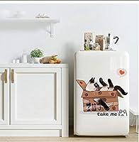 Buzdao かわいいカートン猫リビングルーム食器棚ホームデコレーションアートデカール壁紙漫画面白いキティステッカー