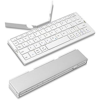 JTT Online (スタンド内蔵/折りたたみ式) Bookey Stick (ホワイト) iPad/iPhone/Android対応 マルチキーボード スティック状に折りたたみ可能 持ち運びに便利なポータブルタイプ Bluetooth ワイヤレス IPBKYSKWH