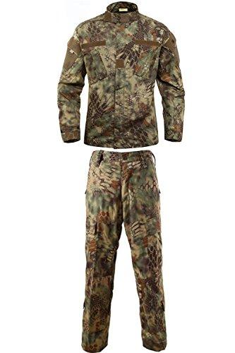 Madrugada 特殊迷彩パターン サバイバルゲーム 狩猟用 迷彩服 上下セット S567 (XL, マンドレイク)