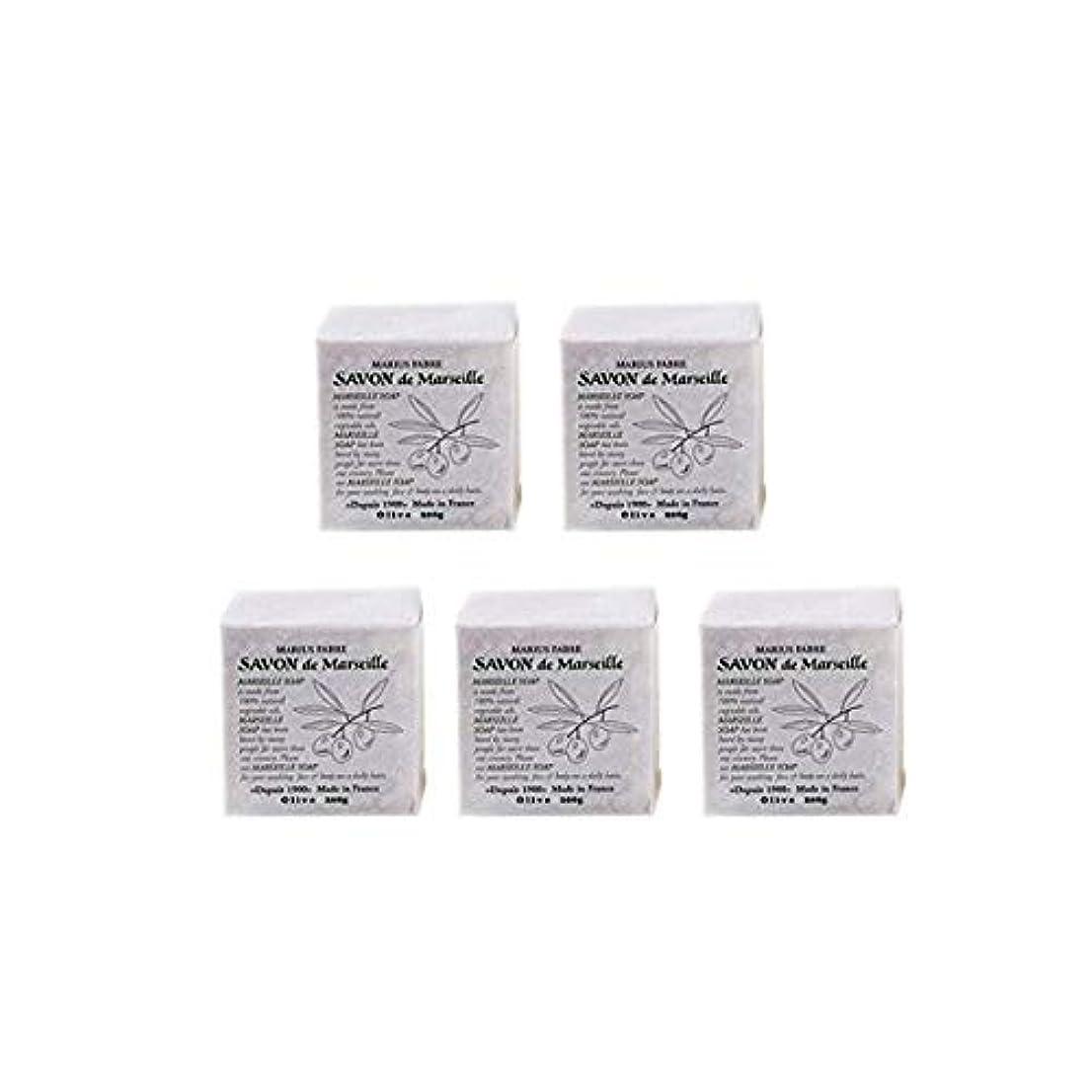 浮浪者ロールプライムマリウスファーブルサボンドマルセイユ無香料オリーブN(無香料)5個セット(200g×5個)マリウスファーブルのマルセイユ石鹸 無香料