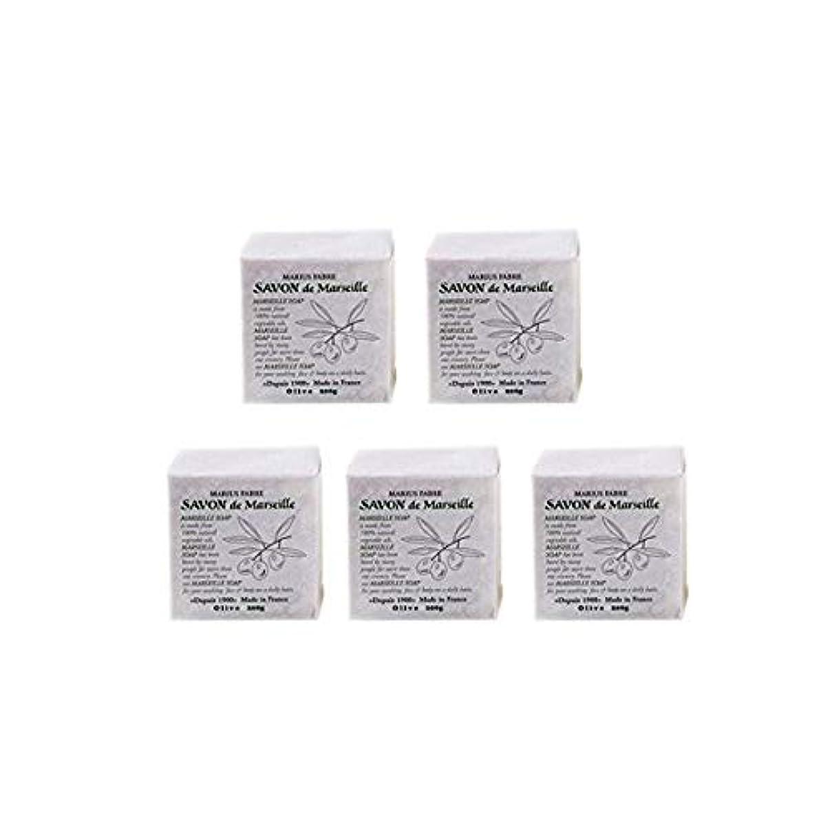 樹木滑りやすい回転するマリウスファーブルサボンドマルセイユ無香料オリーブN(無香料)5個セット(200g×5個)マリウスファーブルのマルセイユ石鹸 無香料