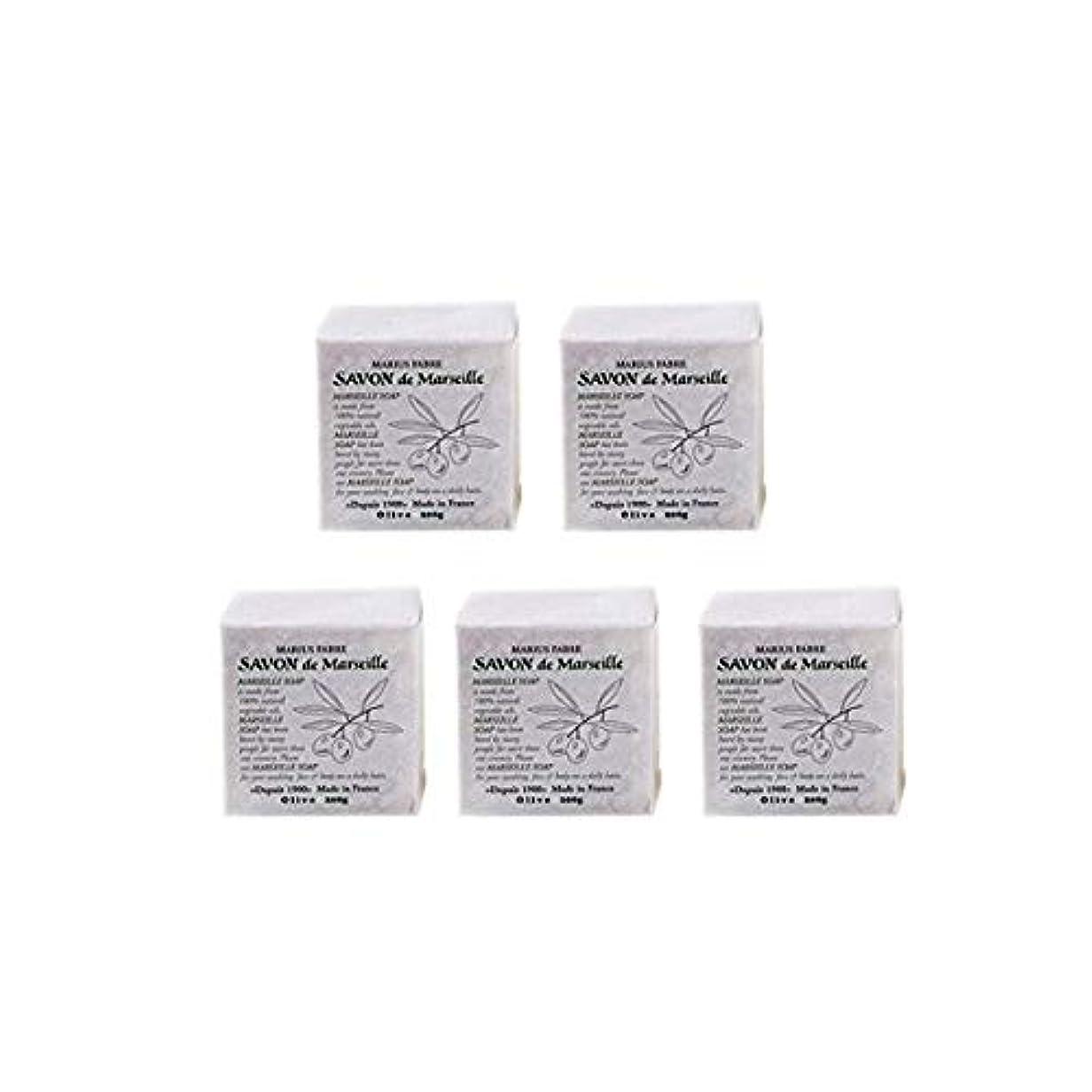 粘液手首メッシュマリウスファーブルサボンドマルセイユ無香料オリーブN(無香料)5個セット(200g×5個)マリウスファーブルのマルセイユ石鹸 無香料