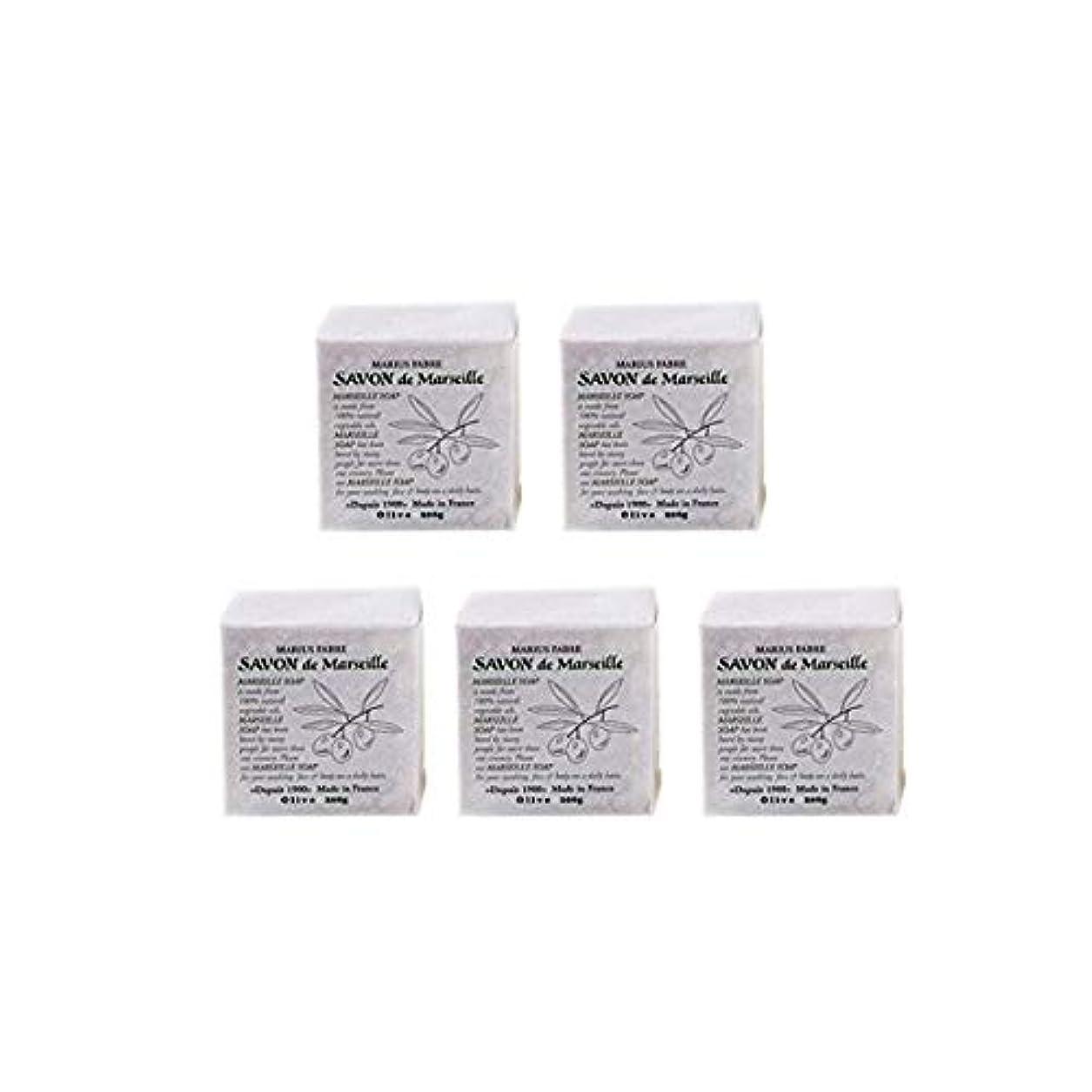 ほとんどない商標ナプキンマリウスファーブルサボンドマルセイユ無香料オリーブN(無香料)5個セット(200g×5個)マリウスファーブルのマルセイユ石鹸 無香料