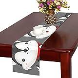 GGSXD テーブルランナー 面白い ハスキー クロス 食卓カバー 麻綿製 欧米 おしゃれ 16 Inch X 72 Inch (40cm X 182cm) キッチン ダイニング ホーム デコレーション モダン リビング 洗える