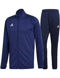 トレーニングウェア 上下セット メンズ/アディダス adidas CONDIVO18/フルジップジャケット パンツ 男性用 サッカーウェア フットボール ワークアウト 上下組 ジム スポーツウェア/DJV56-DJV11