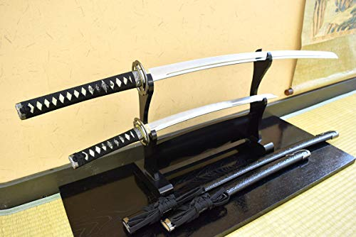 美術刀剣-模造刀 天下の剣豪 宮本武蔵の愛刀『武蔵二刀流 海鼠鍔 大小セット』