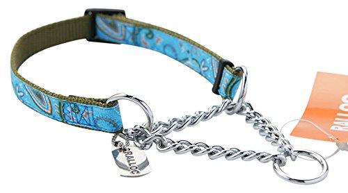 【小型犬用しつけ首輪】アミット しつけに便利おしゃれなハーフチェーンカラー 02 Sサイズ 色:112 ファンタジーブルー