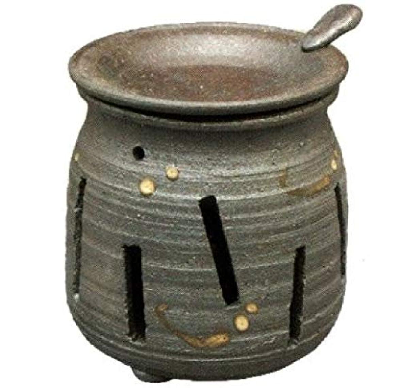 セッティングオーバーフローロッド常滑焼?焜清 カ39-07 茶香炉 焼締め 約φ9×9.7cm