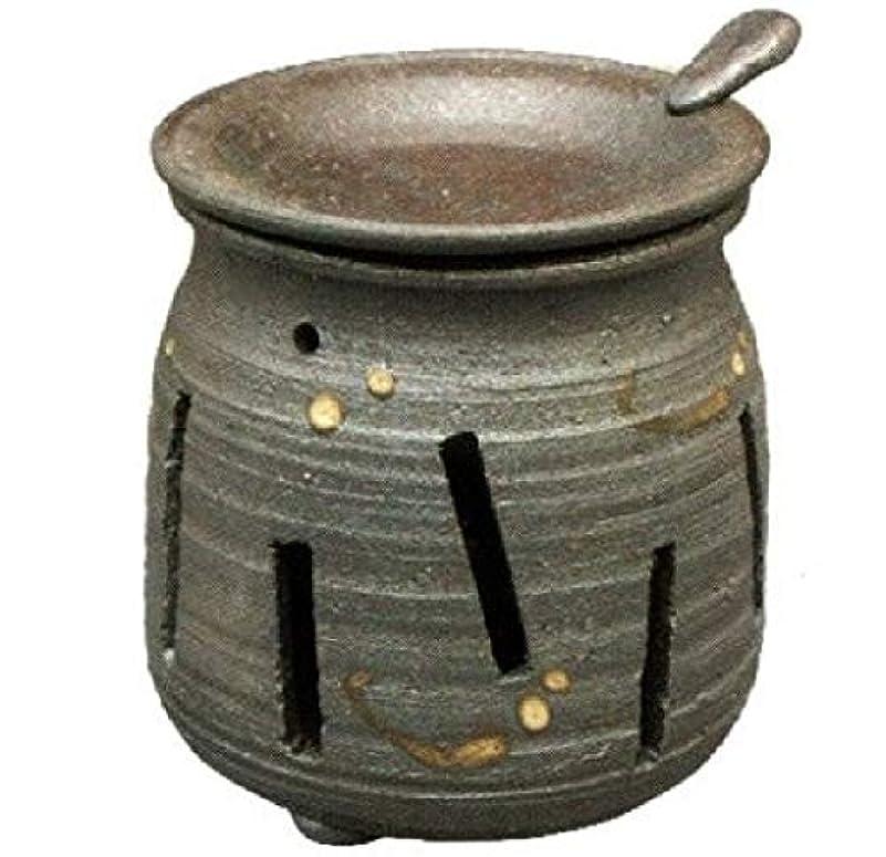 堂々たるドライバ合併症常滑焼?焜清 カ39-07 茶香炉 焼締め 約φ9×9.7cm